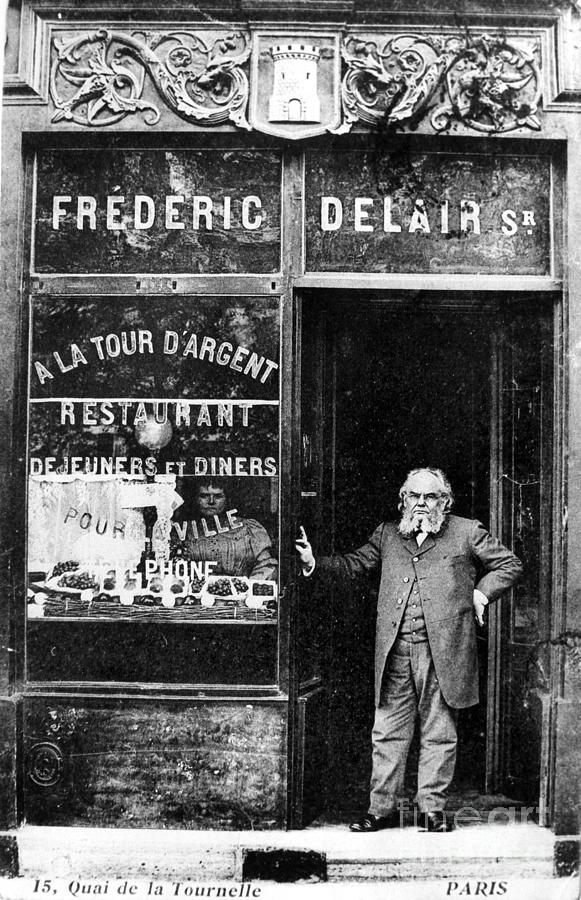 Paris: Restaurant, 1890s Photograph  - Paris: Restaurant, 1890s Fine Art Print