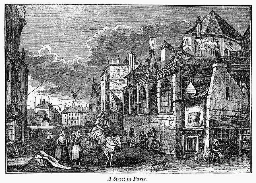 Paris: Street, 1830s Photograph  - Paris: Street, 1830s Fine Art Print