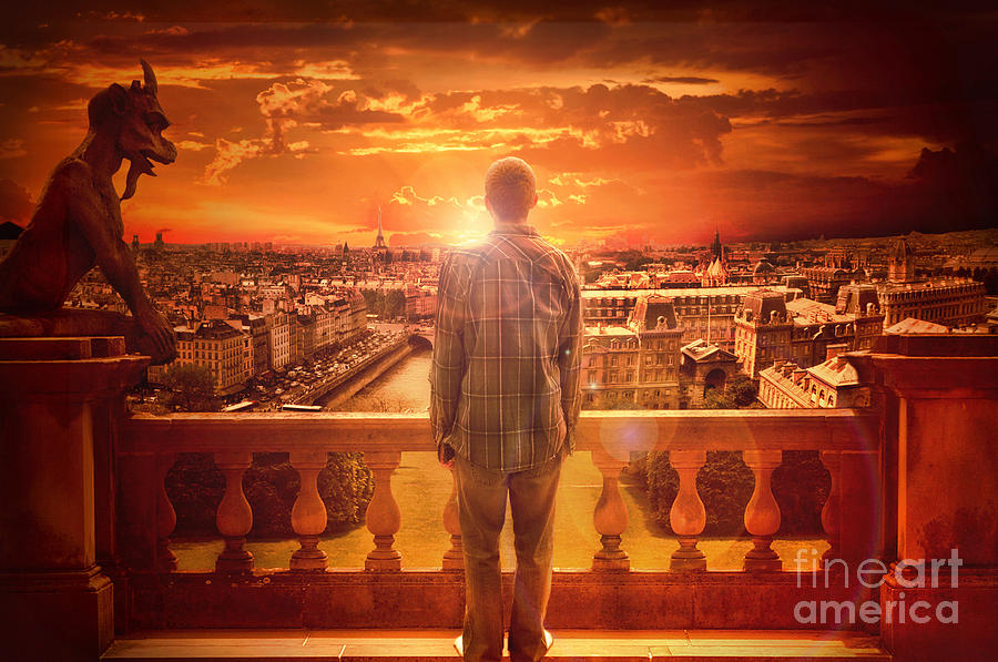 Paris Sunrise  Digital Art  - Paris Sunrise  Fine Art Print