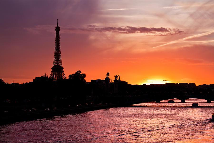 Paris Sunset Photograph