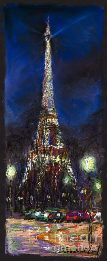 Paris Tour Eiffel Painting  - Paris Tour Eiffel Fine Art Print