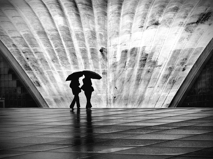Paris Umbrella Photograph