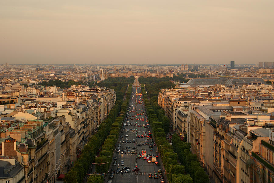 Paris View At Sunset Photograph