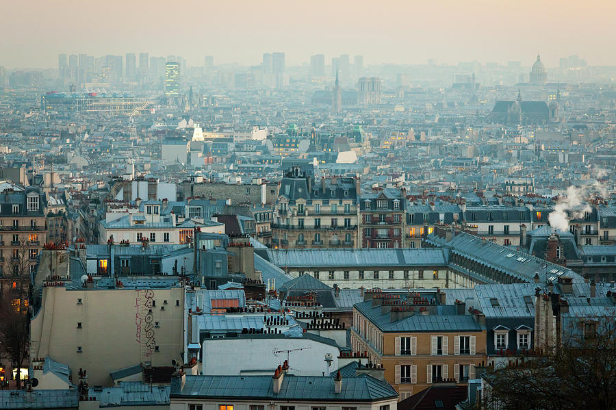 Paris View From Sacre-coeur Photograph  - Paris View From Sacre-coeur Fine Art Print