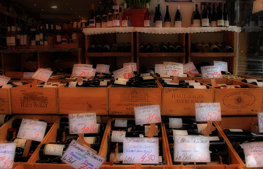 Paris Wine Shop Photograph