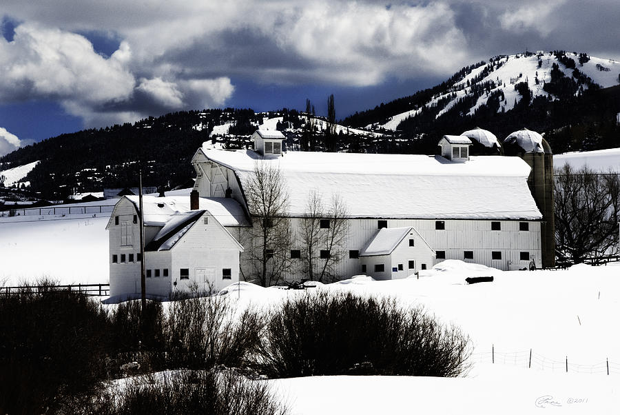Park City White Barn Photograph