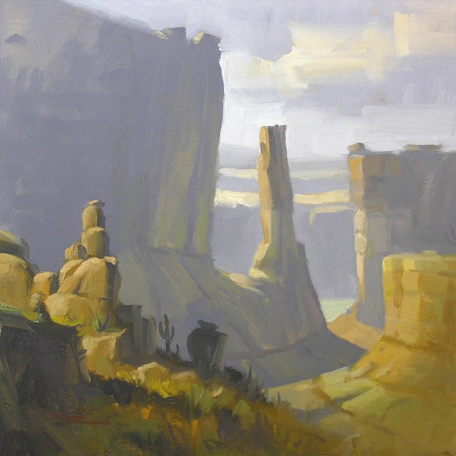 Moab Painting - Park Lane by Richard Robinson