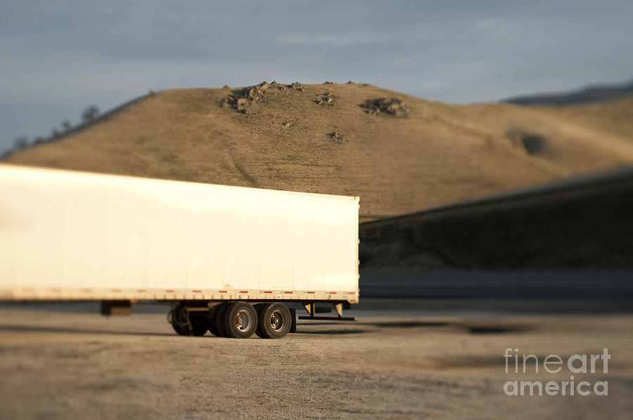 Parked Semi Trailer Photograph  - Parked Semi Trailer Fine Art Print