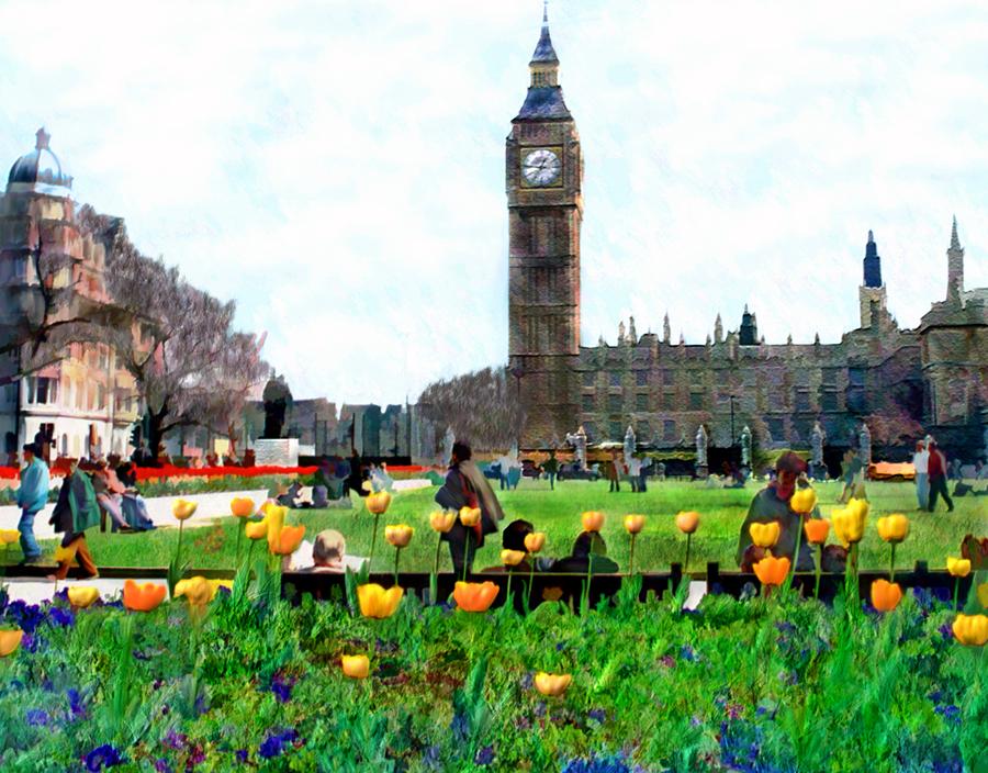 Parliament Square London Photograph
