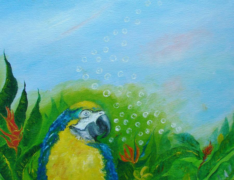 Parrothead Wakes Up In Margaritaville Painting