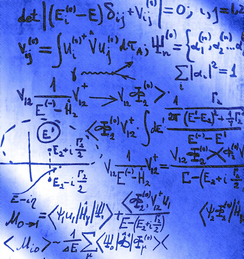 Physics Photograph - Particle Physics Equations by Ria Novosti