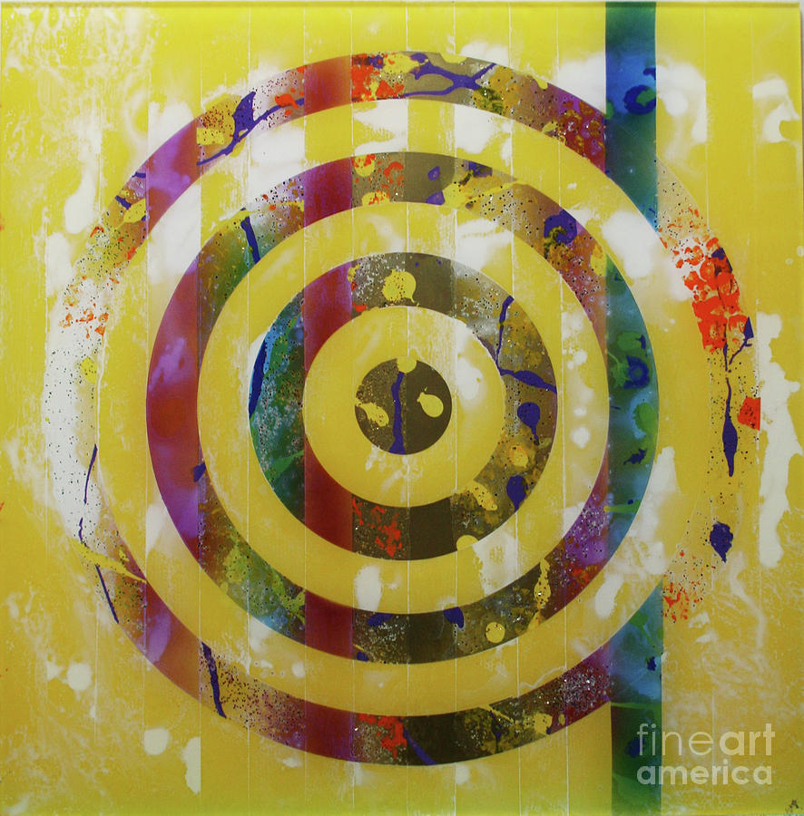 Party- Bullseye 2 Painting  - Party- Bullseye 2 Fine Art Print