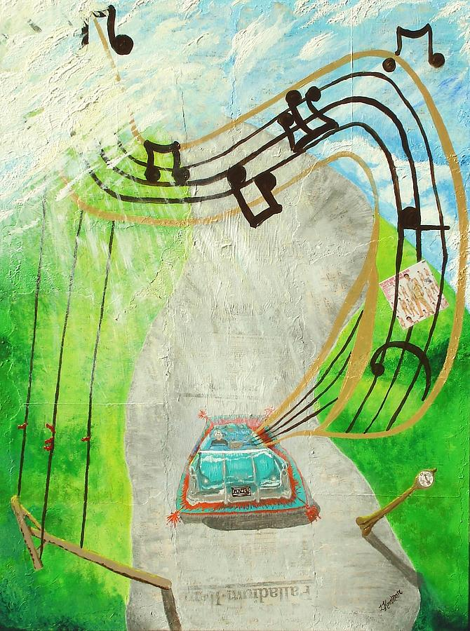 Music Painting - Passing by Lisa Kramer
