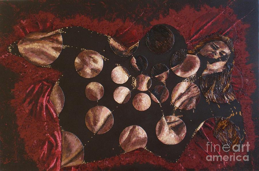 Oil Painting Painting - Passion Explosion II by Tatjana Popovska