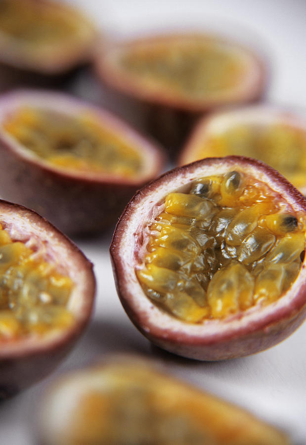 Passion Fruit Halves Photograph  - Passion Fruit Halves Fine Art Print