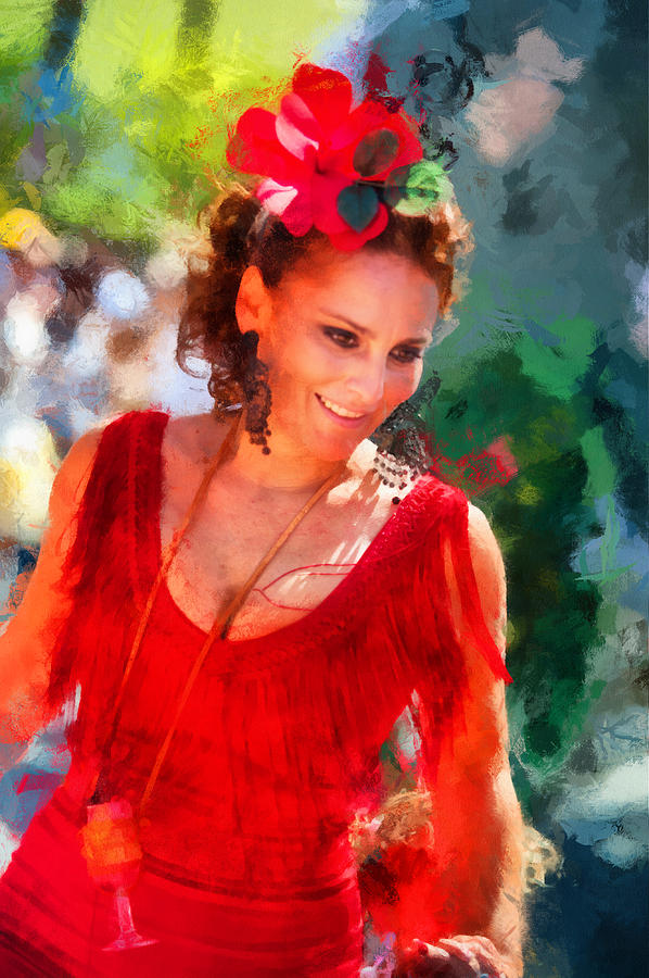 Woman Photograph - Passionate Gypsy Blood. Flamenco Dance by Jenny Rainbow
