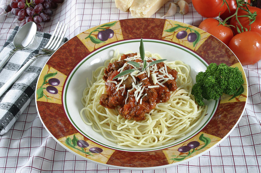 Pasta Dish With Meat Sauce Photograph