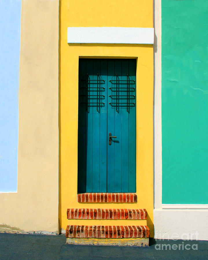 Pastel Doorway Photograph  - Pastel Doorway Fine Art Print