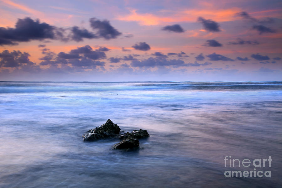 Tunnels Beach Photograph - Pastel Tides by Mike  Dawson
