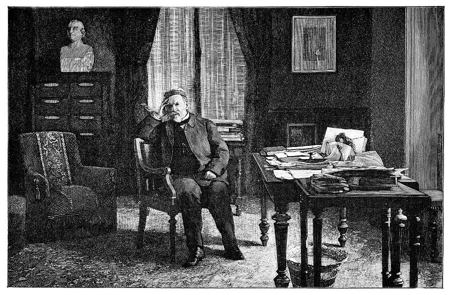 Pasteur In His Study, 19th Century Photograph