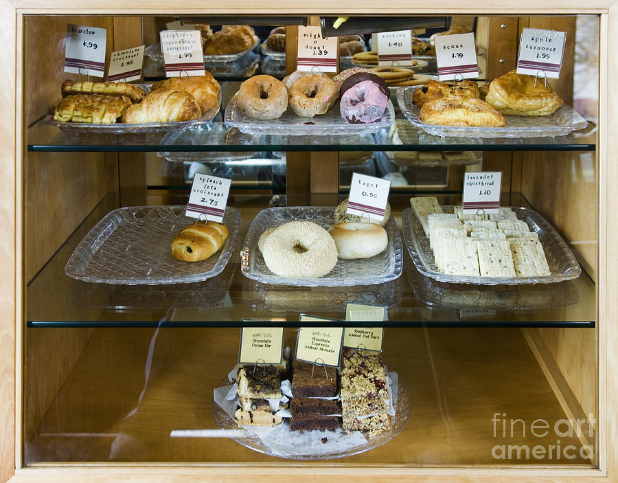 Bars Photograph - Pastry Items For Sale by Andersen Ross