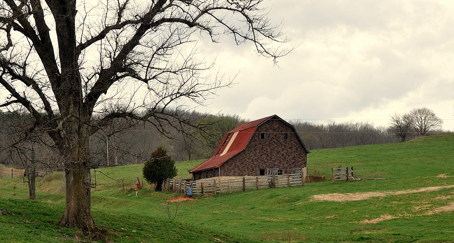 Pasture And Bar  Photograph  - Pasture And Bar  Fine Art Print