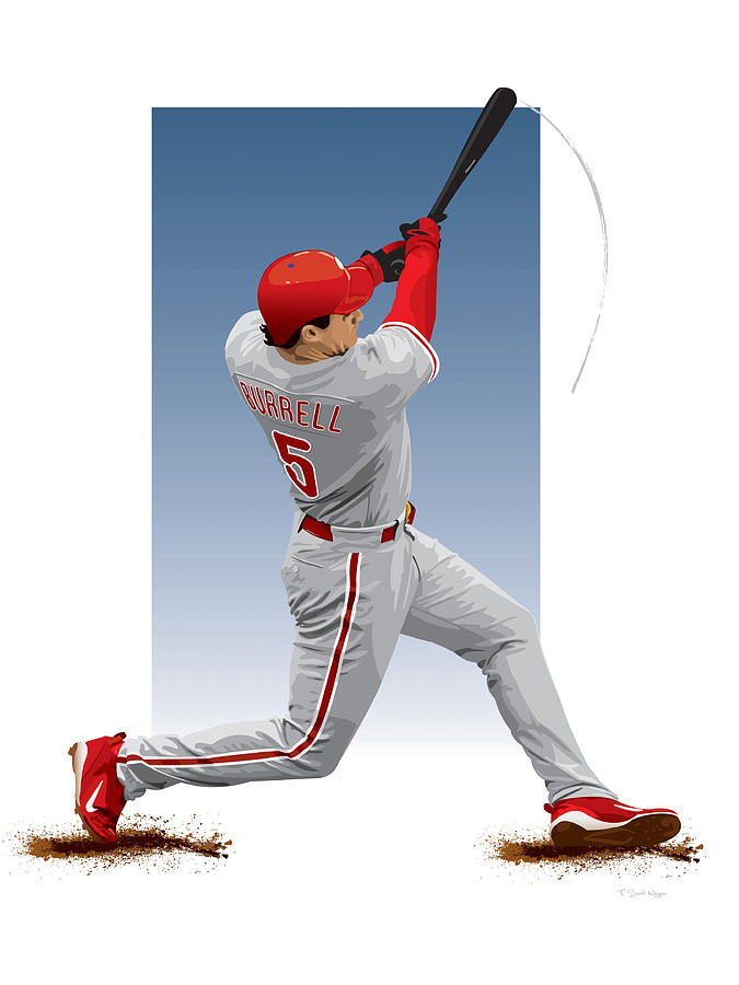 Pat The Bat Burrell Digital Art  - Pat The Bat Burrell Fine Art Print