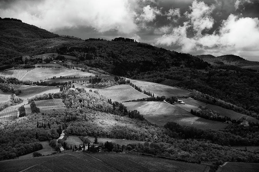 Patches Of Light Over Hills In Chianti, Tuscany Photograph  - Patches Of Light Over Hills In Chianti, Tuscany Fine Art Print