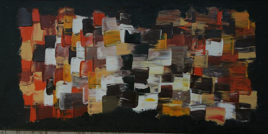 Pallet Knife Painting Painting - Patchwork  by James Johnson