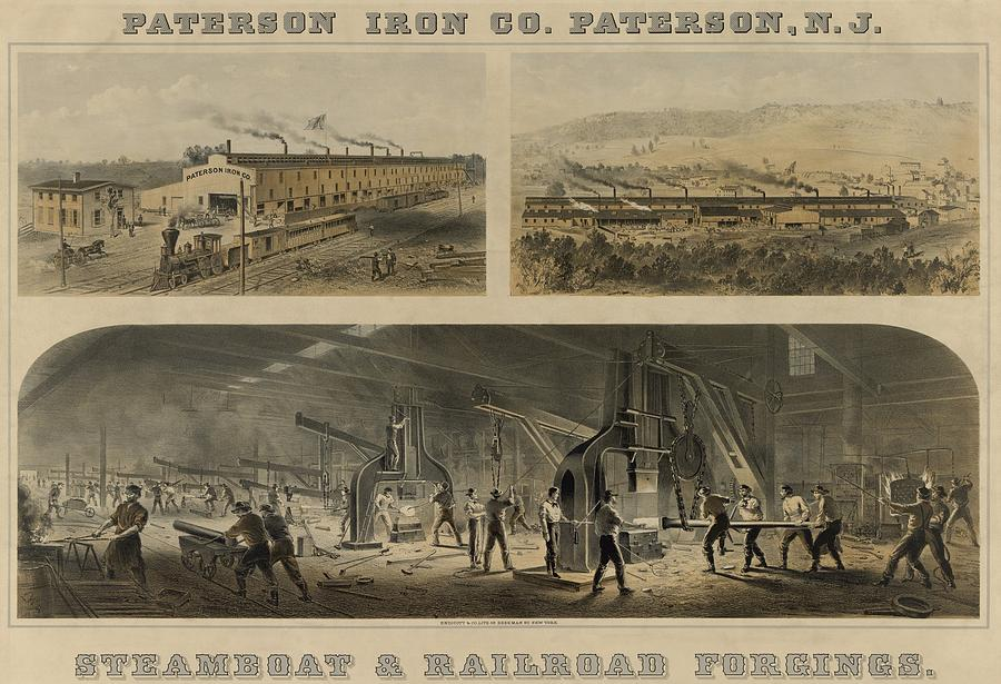 Paterson Iron Company In New Jersey Photograph  - Paterson Iron Company In New Jersey Fine Art Print