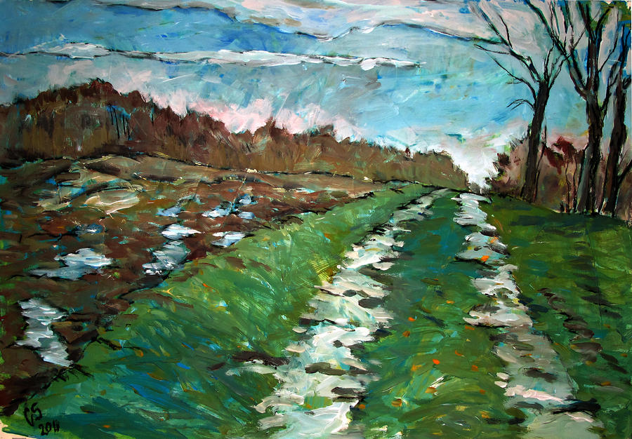 Path Painting  - Path Fine Art Print