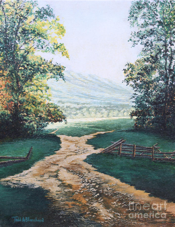 Path From The Cabin Painting  - Path From The Cabin Fine Art Print