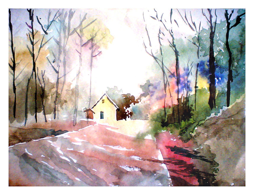 Path In Colors Painting  - Path In Colors Fine Art Print