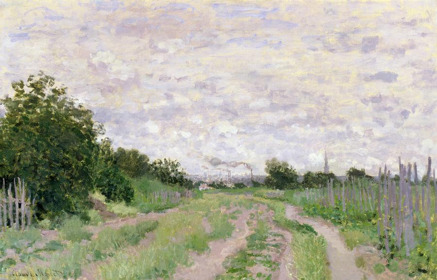 Path Through The Vines At Argenteuil Painting