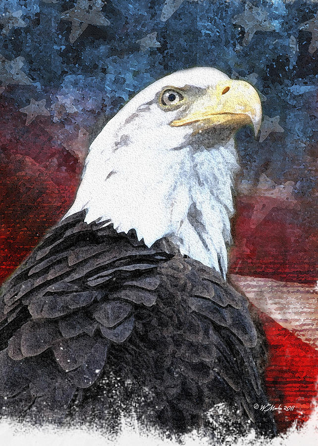 Patriotic Eagle Painting