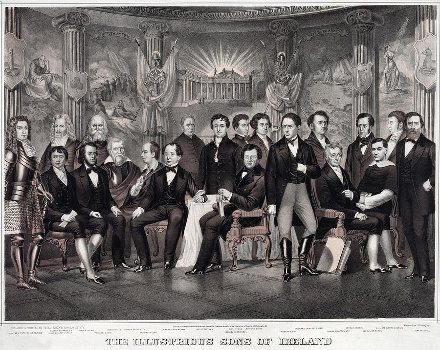 History Photograph - Patriotic Irish-american Print Ca. 1875 by Everett