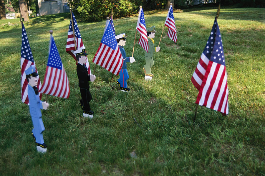 Patriotic Lawn Ornaments Represent Photograph