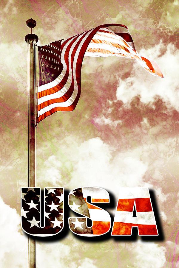 4 Digital Art - Patriotism The American Way by Phill Petrovic