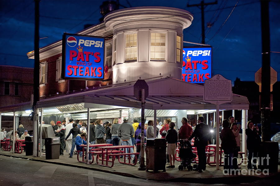 Pats Steaks Photograph