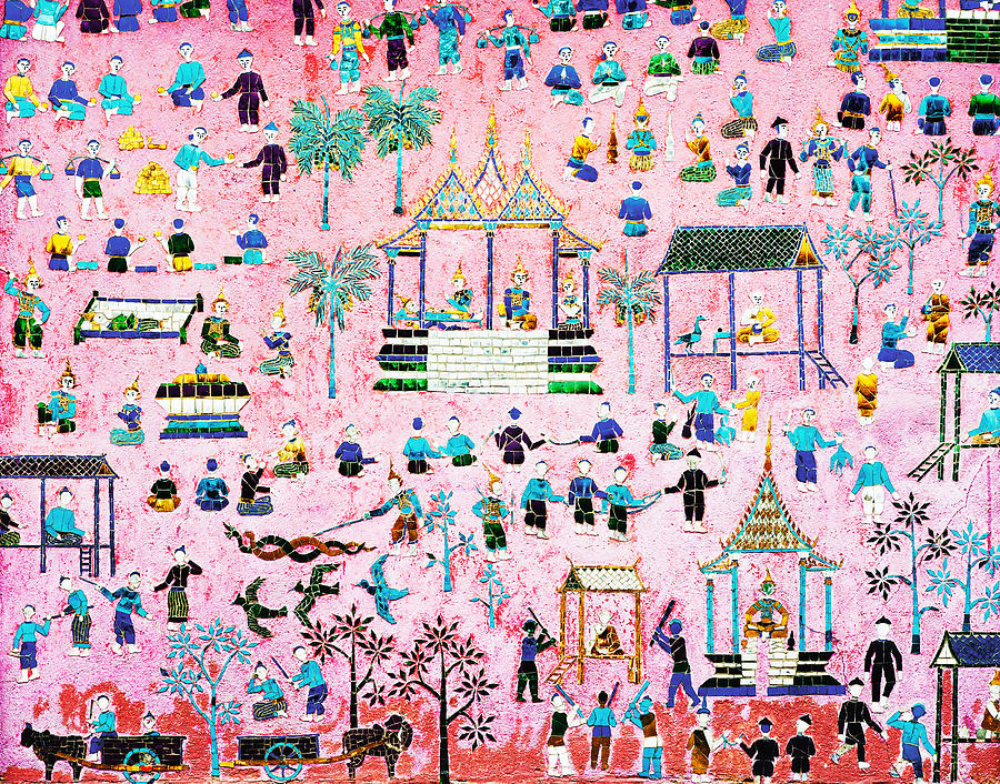 Pattern Of Art In Asia Painting