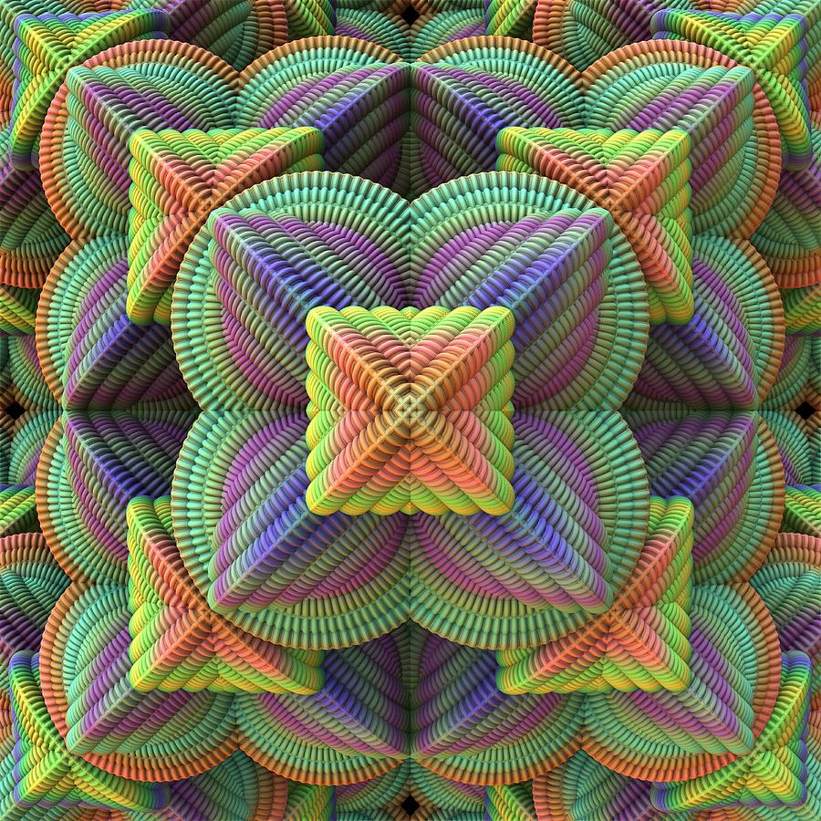 Pattern Pyramid Digital Art