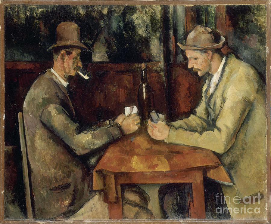 Paul Cezanne The Card Players Painting  - Paul Cezanne The Card Players Fine Art Print