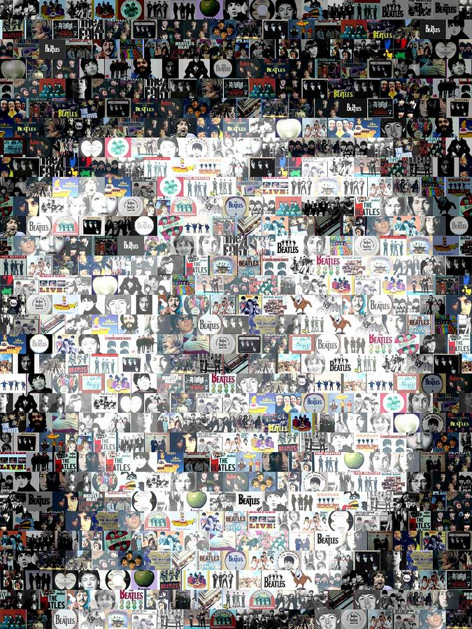 Paul Mccartney Beatles Mosaic Digital Art