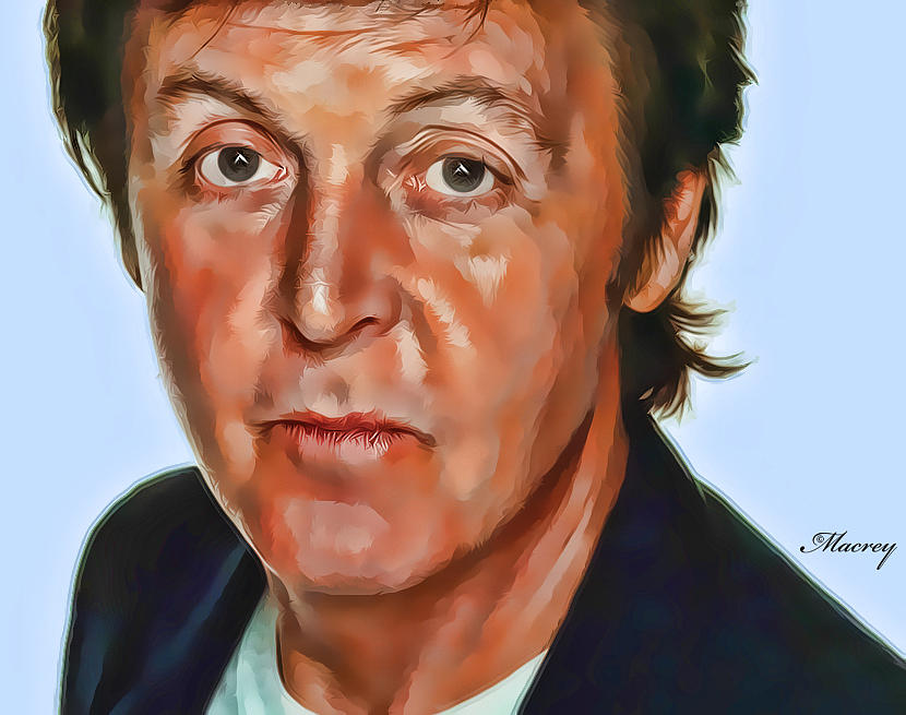 Music Painting - Paul by Ralph Rey