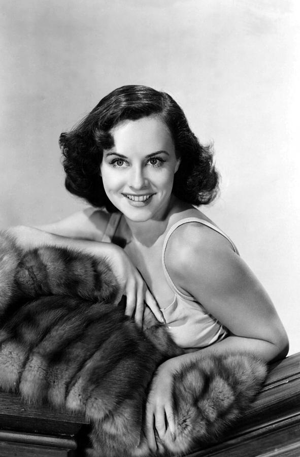 Paulette Goddard With Fur Coat Photograph  - Paulette Goddard With Fur Coat Fine Art Print
