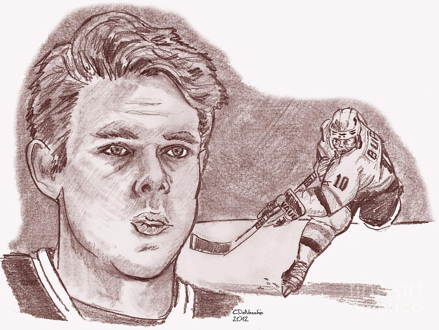 Pavel Bure- Russian Rocket Drawing