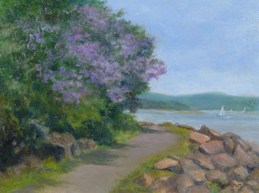 Pawlonia Along The Nyack Trail Painting  - Pawlonia Along The Nyack Trail Fine Art Print