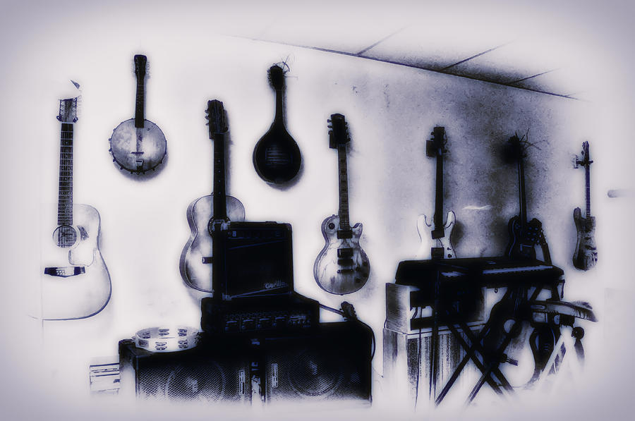 Pawn Shop Guitars Photograph  - Pawn Shop Guitars Fine Art Print