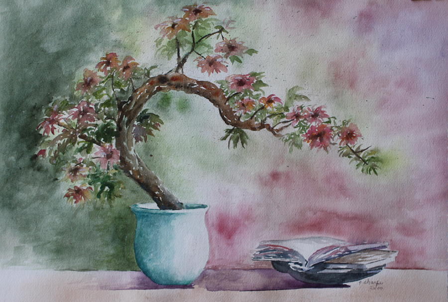 Peaceful Still Life Painting - Peace Of Mind by Patsy Sharpe