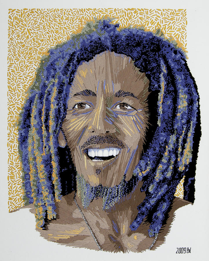 Peace Portrait One Bob Marley Tapestry - Textile  - Peace Portrait One Bob Marley Fine Art Print